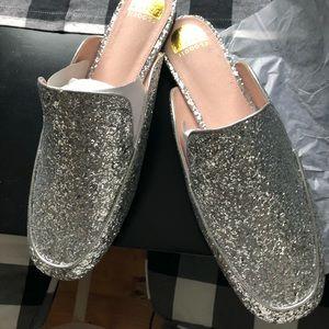 Eloquii Selena Sparkly Silver Glitter Mule size 12W ✨